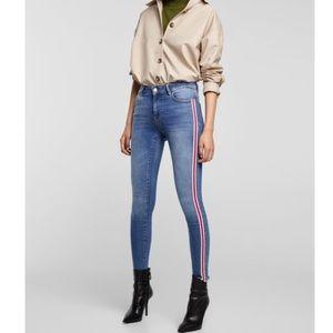 Zara high waist jeans skinny Sz 6 (H222)